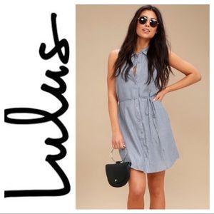 Lulus, Super Comfy Sleeveless Button Down Dress